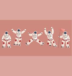 Space explorer cosmonaut or astronaut in vector