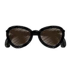 sunglasses female fashion icon vector image vector image