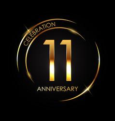 Template 11 years anniversary vector