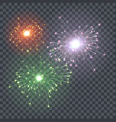 The effect festive firework xmas bright vector