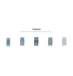 Threads icon in different style two colored and vector
