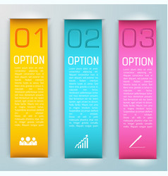 three pink yellow light blue banner set vector image