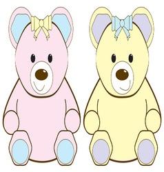 Two Teddies vector