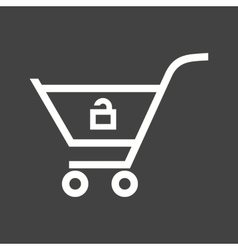 Unlock Cart vector