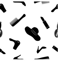 women accessories black and white seamless vector image