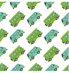 campers vacation travel car summer seamless vector image vector image