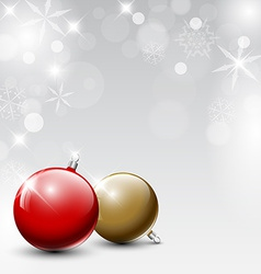 Christmas realistic baubles vector