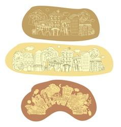 city retrostyle vector image