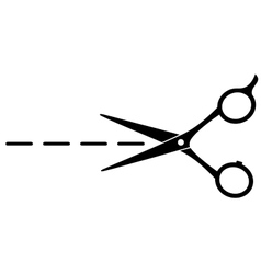 cutting scissors with line vector image vector image
