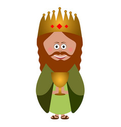 isolated wise man vector image