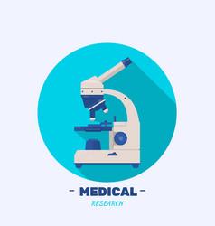 Logo microscope research sign creative design vector