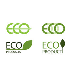 logo set of eco labels vector image