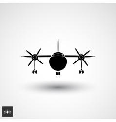 plane logo icon vector image