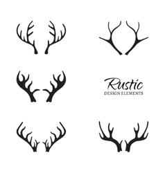 Rustic Antler Set vector image