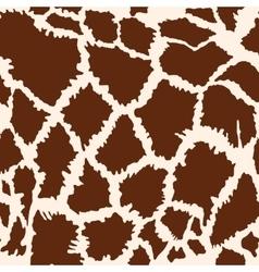 Seamless giraffe fur pattern vector image vector image