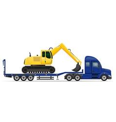 semi truck trailer concept 12 vector image vector image