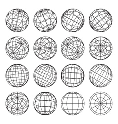 Set of abstract globes vector image