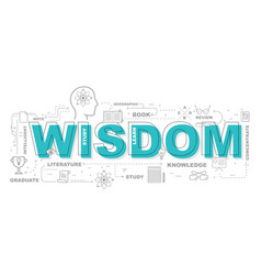 wisdom icons for education graphic design vector image vector image