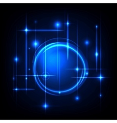 Blue radial background vector