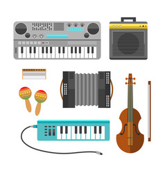 different music instruments musical guitar vector image vector image