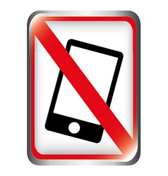 dont cellphone vector image