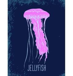 Hand drawn jellyfish vector image