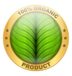 Icon of organic for food or drinks vector image vector image