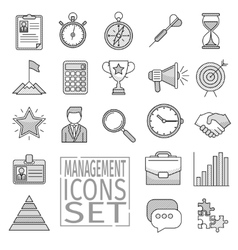 management line icons vector image vector image