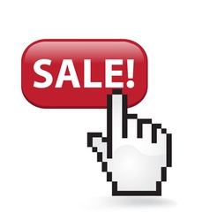 Sale Button vector image vector image