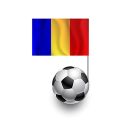 Soccer Balls or Footballs with flag of Romania vector image