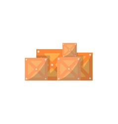 stack of delivery boxes isolated icon vector image vector image