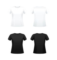 T shirts for women vector image vector image