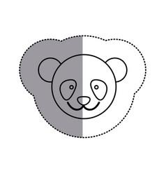 contour face bear icon vector image