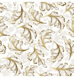 Delicate ornate hand drawing white gold fantasy vector image vector image