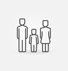 family with one child icon vector image vector image