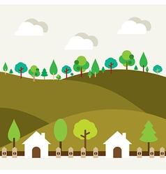 Natural Landscape Background vector image