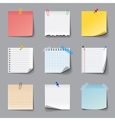 Post it notes icons set vector image vector image