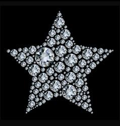 star in diamonds vector image