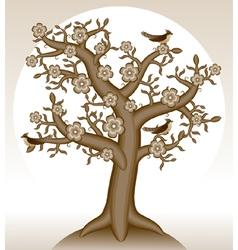 Blooming tree vector
