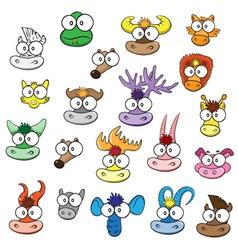 different wild animals cartoons vector image