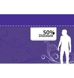 discount background vector image vector image