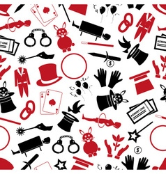 magician and magic theme set of icons seamless vector image
