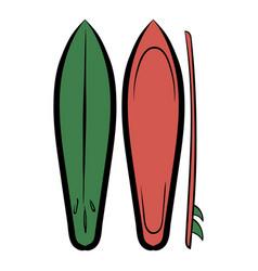 surfboards icon cartoon vector image