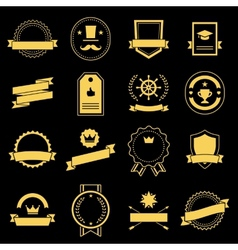 Vintage retro flat badges labels vector image