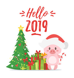 2019 new yea christmas greeting card vector image