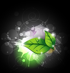 abstract leaf background vector image