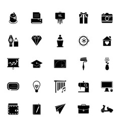 Art and creation icons on white background vector image