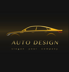 Auto company yellow logo vector