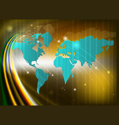 Background with silhouettes a continents vector