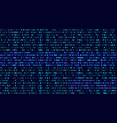 Binary code blue digits on the computer screen vector
